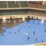Polynite in a sports hall / stadium / Event floor / Shaving floor