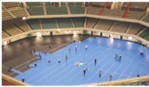Vloerbescherming, Polynite in een sporthal / stadion