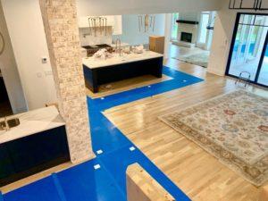 vloerbescherming, floorprotection, Polynite, living