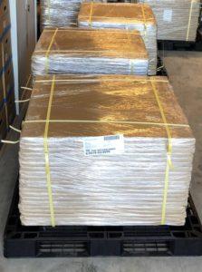 Vloerbescherming, 100 sheets Polynite op een pallet
