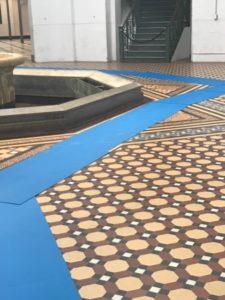 vloerbescherming, floorprotection, museum