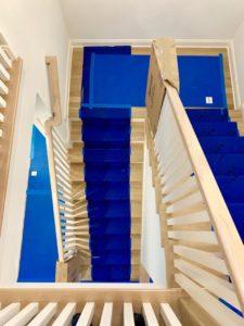 vloerbescherming, floorprotection, Polynite, staircase