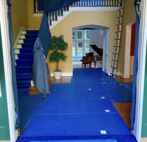 vloerbescherming, floorprotection, Polynite, villa